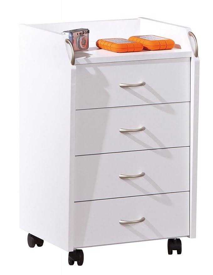 Kinderschreibtisch Frizzy Weiß Rollcontainer Pronti Komplettset