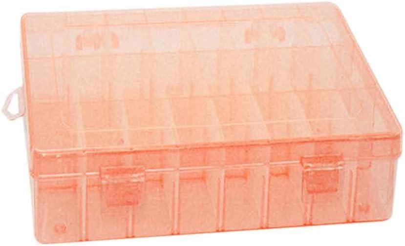 Lorjoy 24 Ranuras de plástico Joyería Ajustable Caja de Almacenamiento Organizador
