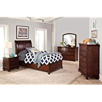 Jensen Youth 5 Piece Full Storage Bedroom Set with Chest in Cherry Brown
