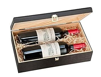 Doble Botella, caja de regalo de lujo de madera para vino ...