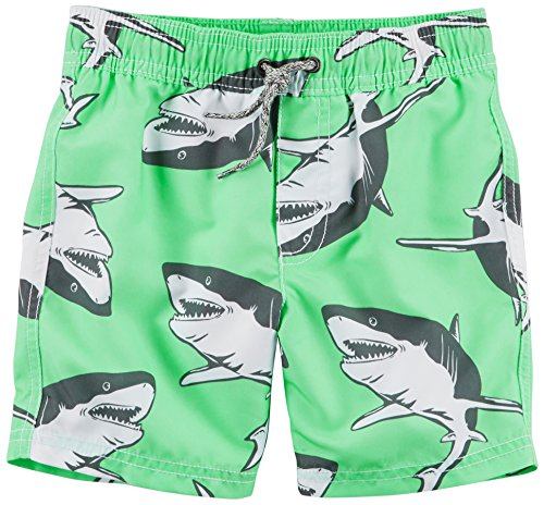 Carter's Baby Boys' Trunk, Mint Shark, (220 Ken)