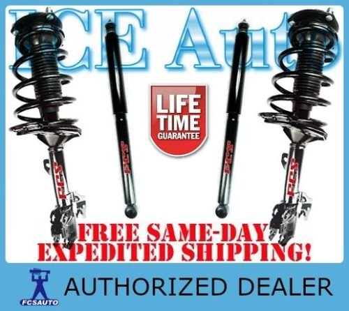 FCS Auto Parts 4 piece Front Left + Right Ready-Fit Loaded Struts + Rear Shocks | 2008 – 2012 Chevrolet Chevy Malibu | 2005 – 2010 Pontiac G6 (All Models ) | 2007 – 2009 Saturn Aura