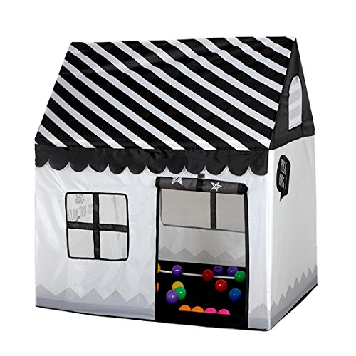 Kids Portable Folding Fantasy Cottage Playhouse Prince or Princess Cartoon Fun Room Play Tents for Indoor Outdoor Use by Hi Suyi