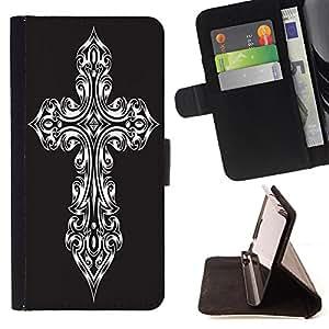 Skull Market - FOR HTC One M8 - learn to enjoy - Caja de la carpeta del tirš®n del cuero de la PU [con ranuras para tarjetas y cierre de solapa magnšŠtica] Pš¢rese cubierta de la caja