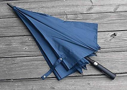 ZZSIccc - Paraguas semiautomático, mango largo resistente al viento, paraguas de golf para hombre