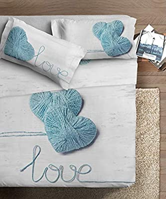 Ipersan - Juego de sábanas para Cama de Matrimonio, algodón ...