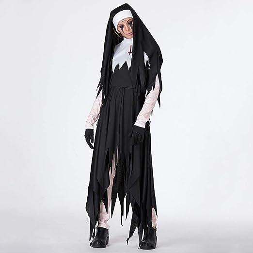 Yunfeng Halloween Bruja Disfraz para Mujer Bruja de Vampiro ...