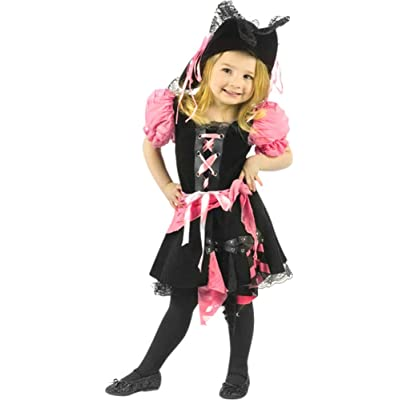 Fun World Toddler Girls' Pink Punk Pirate, Multi, Large: Clothing