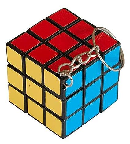 Markenlos 12 llaveros con Forma de Cubo mágico de los años ...