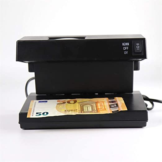 LBSX Detector de Billete Falso UV for Bills, con Violeta Cabeza magnética y Luz Falsificación de Marca de Agua Tarjetas de crédito y de identificación: Amazon.es: Hogar