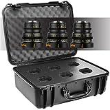 Veydra V1-3LENSKITCASESONYEI Mini Prime 3 Lens Kit with Manual Focus, Black