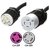 NEMA L14-20 Extension Power Cord - 100 Foot, 20A, 125/250V, 12/4 SJOOW - Iron Box Part # IBX-4805-100