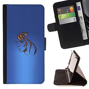 For Sony Xperia Z3 Plus / Z3+ / Sony E6553 (Not Z3) Case , Cara Tonos de pelo Peluquería Oro- la tarjeta de Crédito Slots PU Funda de cuero Monedero caso cubierta de piel