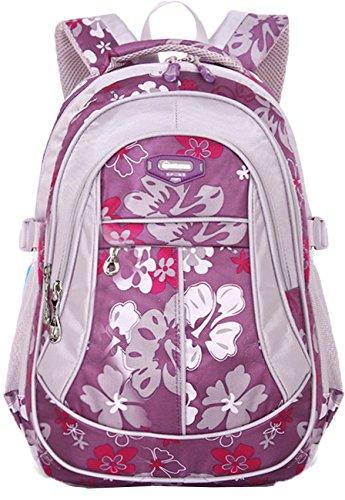Geek-M Flowers Pattern Backpacks for Girls Kids School Satchel Students Travel Sports Bookbag ()