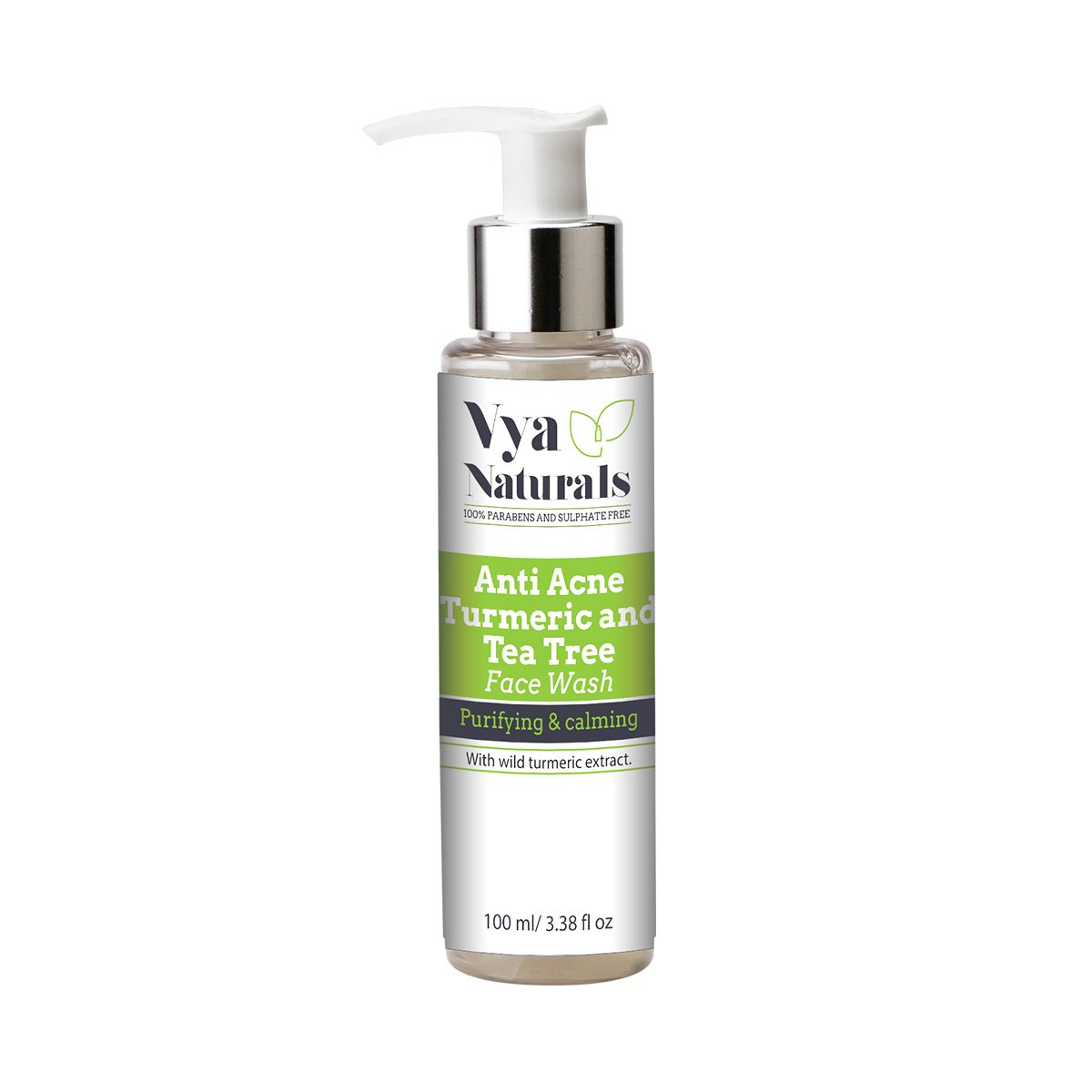 Vya Naturals 100 Parabens And Sulphate Free Anti Acne Turmeric Pixy Brightening Facial Foam Ml Tea Tree Face Wash 100ml Beauty