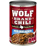 Wolf Brand Chili, No Beans 15 Oz (Pack of 12)