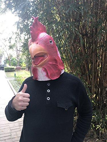 Laylala White Chicken Head Mask Animal Mask (Chicken Head Mask)