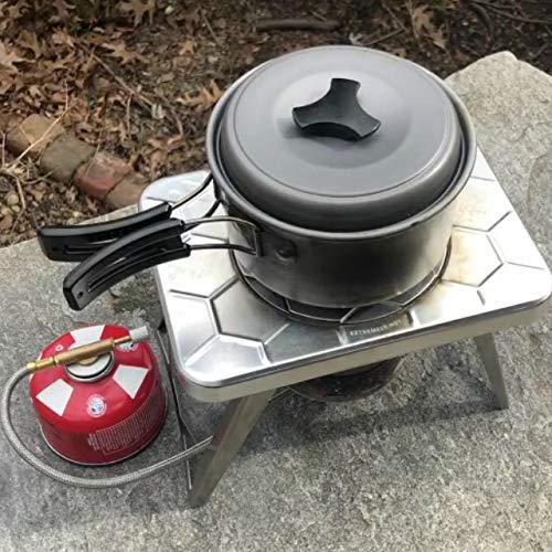 Progettato per Funzionare con Il fornello da Campeggio nCamp nCamp per Cucinare allaperto Adattatore a Gas per fornello da Campeggio