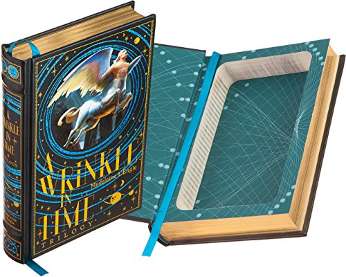 Real Hollow Book Safe - A Wrinkle in Time Trilogy by Madeleine L'Engle (Leather-bound) (Magnetic Closure Optional)