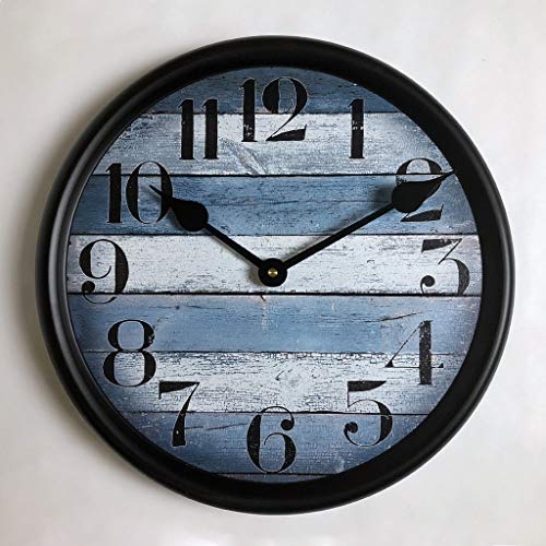 Nantucket Blue Wall Clock, Available in 8 Sizes, Most Sizes Ship 2-3 Days, Whisper Quiet.