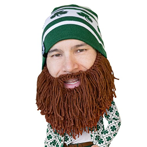 Beard Head - The Original Shamrock Knit Beard Hat (Brown) -