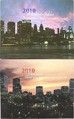 (2010 D P US Mint Set 28 Coins in Original Packaging Brilliant Uncirculated)