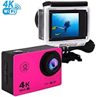Sports Action Camera 4K ultra HD Waterproof WIFI Camcorder 170 Degree Wide Angle 16MP Underwater Digital Camera