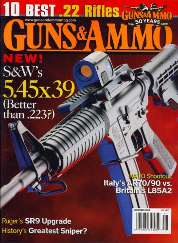 Guns & Ammo, November 2008 - Weatherby Mossberg Winchester Browning