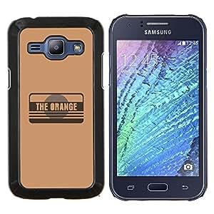 LECELL--Funda protectora / Cubierta / Piel For Samsung Galaxy J1 J100 -- La naranja --