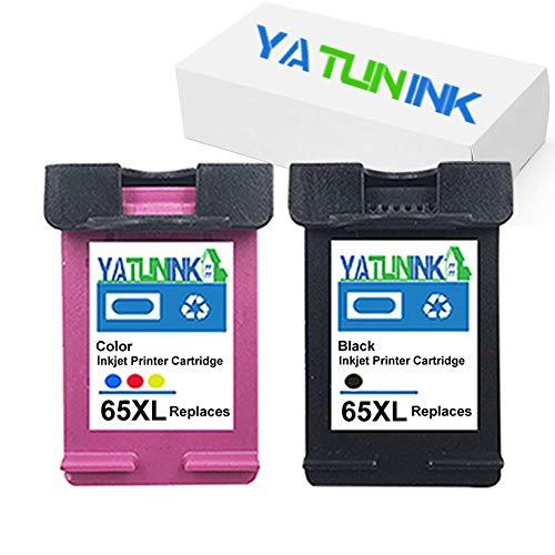 YATUNINK Remanufactured Ink Replacement for HP 65XL Ink Cartridges for HP Envy 5055 Envy 5055 Envy 5058 DeskJet 3755 DeskJet 2655 3720 3722 3723 3730 3732 3752 3758 2624 Printer (Black+ Color,2 Pack)