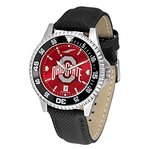 - Ohio State Buckeyes Competitor AnoChrome Men's Watch - Color Bezel