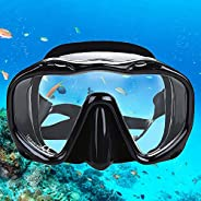 Whale an-ti Fog Dive Mask Scuba Diving Goggles,Waterproof and Quick Adjustable Snorkeling Masks for Men &