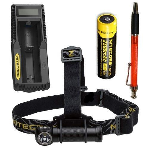 Nitecore HC30 1000 Lumen Headlamp w/NL183 2300mAh Battery & UM10 Charger Andrew & Amanda