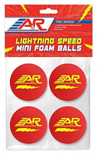 A&R Sports Pro Series Lighting Speed Mini Foam Balls (Pack of 4)