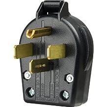 Eaton S21-SP-L Commercial Grade Range and Dryer Angles Plug with 30-Amp, 125/250-Volt, 14-30-NEMA Rating, Black