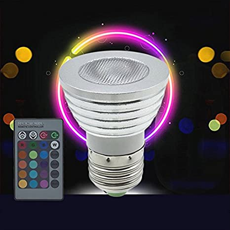Nueva mtn-g 5 W E27 LED RGB foco de bombilla regulable que cambia de color con mando a distancia: Amazon.es: Iluminación