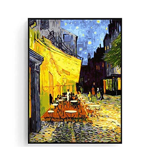 Pintura Al óleo Mundialmente Famosa Por Números Sobre Lienzo