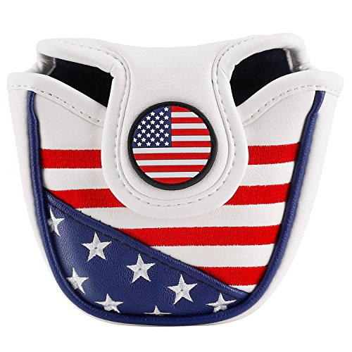 montela golf USA America Mallet Putter Cover Fit #7 Putter by montela golf