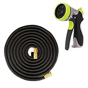 Strongest Flexible Garden Hose Expandable Stretch Hosepipe comes with 10-pattern Spray Nozzle for all Watering Needs