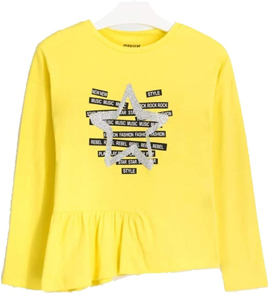 Mayoral Camiseta Manga Larga Estrella Glitter Ni/ña Modelo 7079