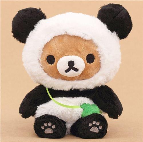 Muñeco de peluche kawaii oso marrón Rilakkuma disfraz oso panda: Amazon.es: Juguetes y juegos