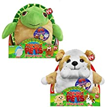 Pop Out Pets: Get 3 Stuffed Animals in One - Turtle, Dolphin & Walrus and Bulldog, Golden Labrador & Beagle
