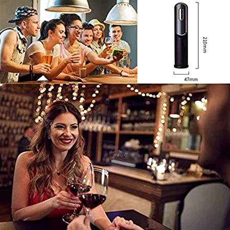 Adesign Kit de abrelatas de Botella de Vino eléctrico Recargable automático sacacorchos de tapón de vacío y Vino vulnerado con Cable de Carga USB