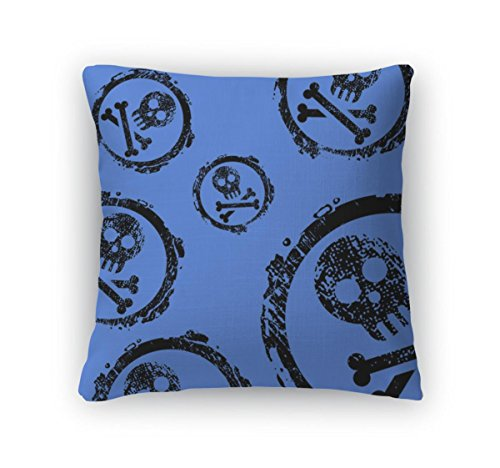 Gear New Throw Pillow Accent Decor, Jolly Roger Wallpaper, 20