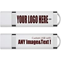 Wholesale Promotional Custom Style USB Flash Drives Personalized USB Thumb Drive Logo Printed USB Flash Memory Stick 32GB 50 Pack White