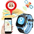 ONMet Kids GPS Tracker Smart Watch With Camera,Flashlight,Math Game,SOS Call,Voice Chatting,Remote Monitor Anti Lost Kid Smartwatch Easter Gifts for Kids Boys Girls Support Android IOS