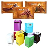 Totem World 3 Booster Packs of Magic The Gathering Modern Horizons with a Totem Deck Box - Three MTG Packs for MH1 Booster Draft Lot