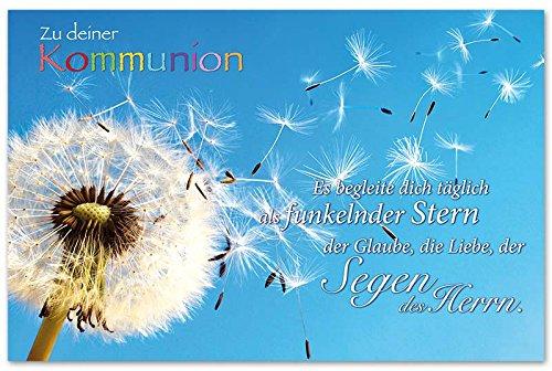 10 Glückwunschkarten Zur Kommunion Pusteblume Spruch Grußkarten