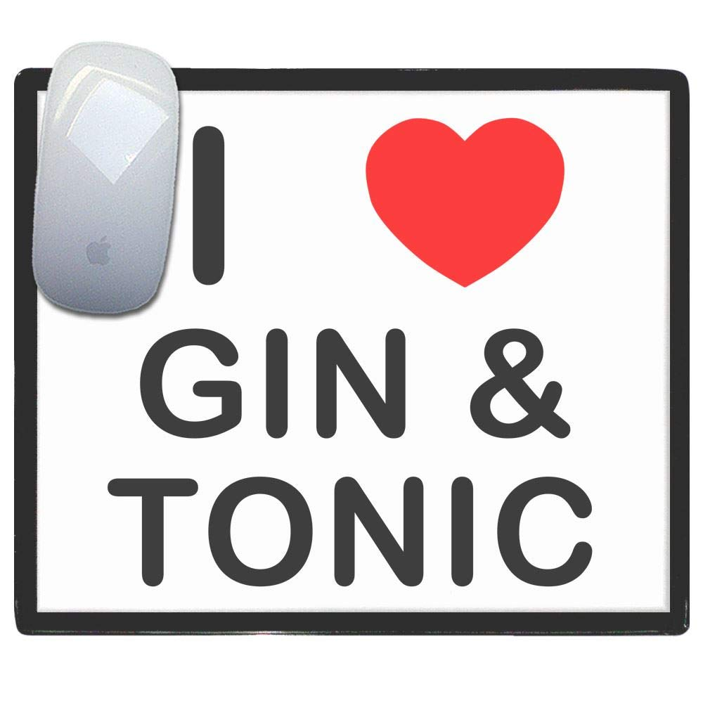 tappetino di plastica del mouse I Love Heart Gin and Tonic