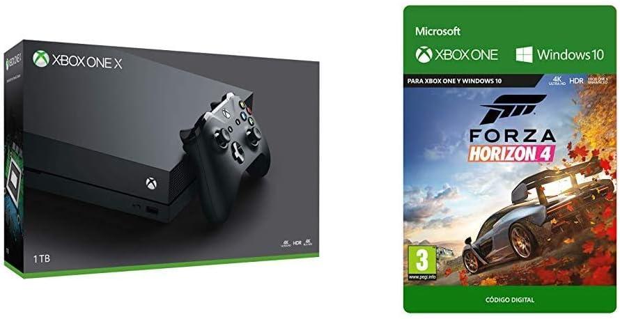 Microsoft Xbox One X Naked Refurbished y Forza Horizon 4   Xbox One - Código de descarga: Amazon.es: Videojuegos